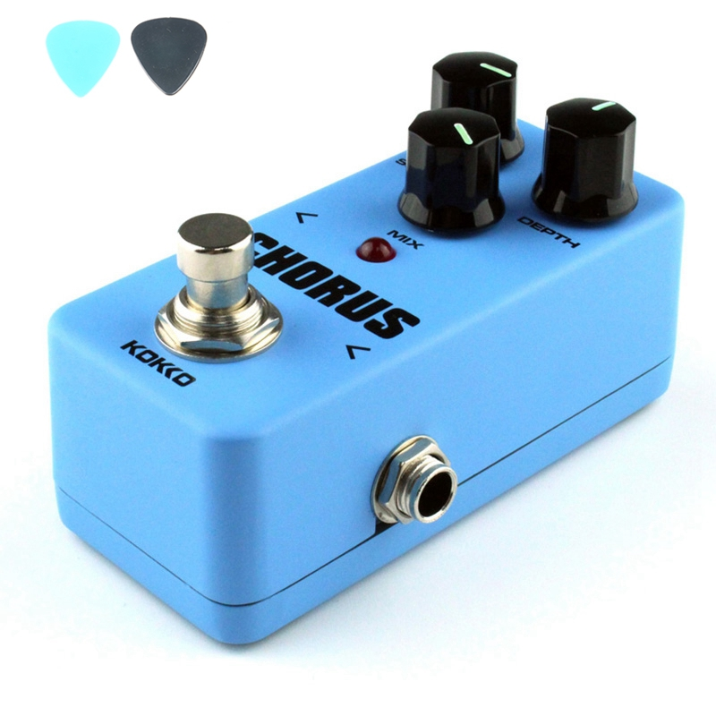 KOKKO FCH2 Mini Chorus Guitar Effect Pedal Portable High Quality Guitar Accessories With Aluminum Alloy Shell mooer ensemble queen bass chorus effect pedal mini guitar effects true bypass with free connector and footswitch topper