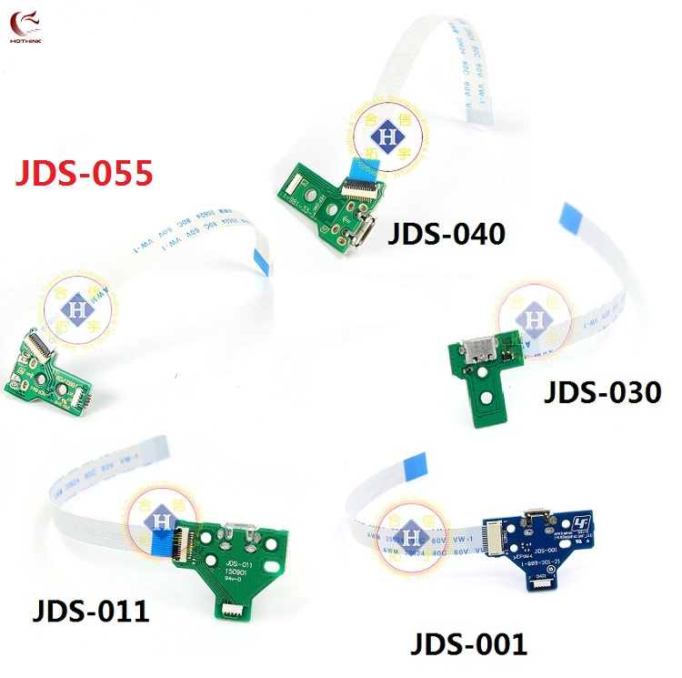 HOTHINK 50set lot JDS-011 JDS-030 JDS-040 JDS-055 USB Charging Port Board with cable For PS4 PRO Slim Controller Repair Parts