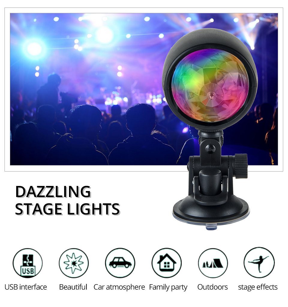 Car-mounted stage lights Adsorbable (1)