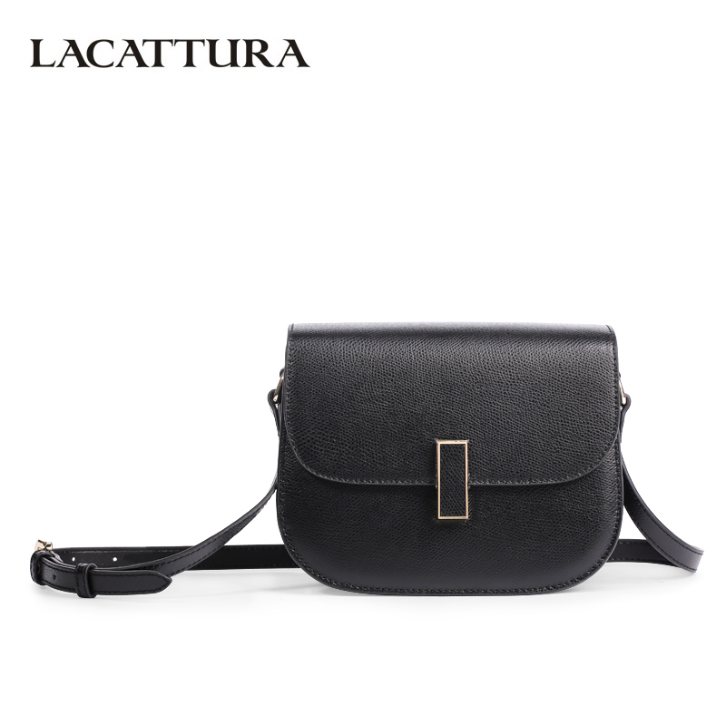 c03c184d35 LACATTURA Luxury Handbag Women Leather Shoulder Saddle Bag Lady Fashion Small  Messenger Bags Summer Clutch Crossbody