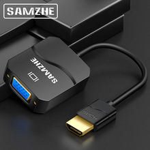 SAMZHE HDMI to VGA Adapter 1080P HDMI Converter for Laptop to Big Screen Digital to Analog USB and Audio Display цена и фото