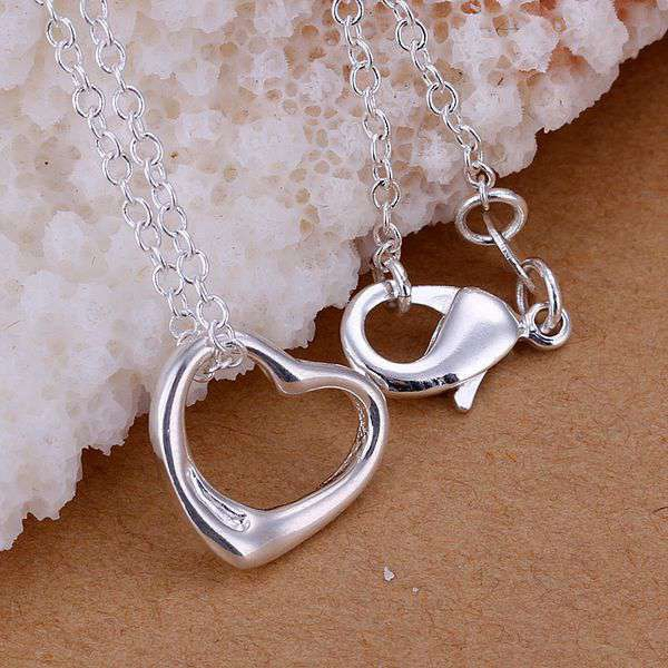 Aliexpress buy fine silver plated pendant 925 sterling fine silver plated pendant 925 sterling silver jewelry bright heart pendants necklace for women mozeypictures Images