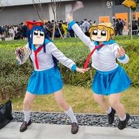Japanese Anime POP TEAM EPIC Popuko Pipimi Cosplay Costume Sailor School Uniform Suit Outfit Clothes