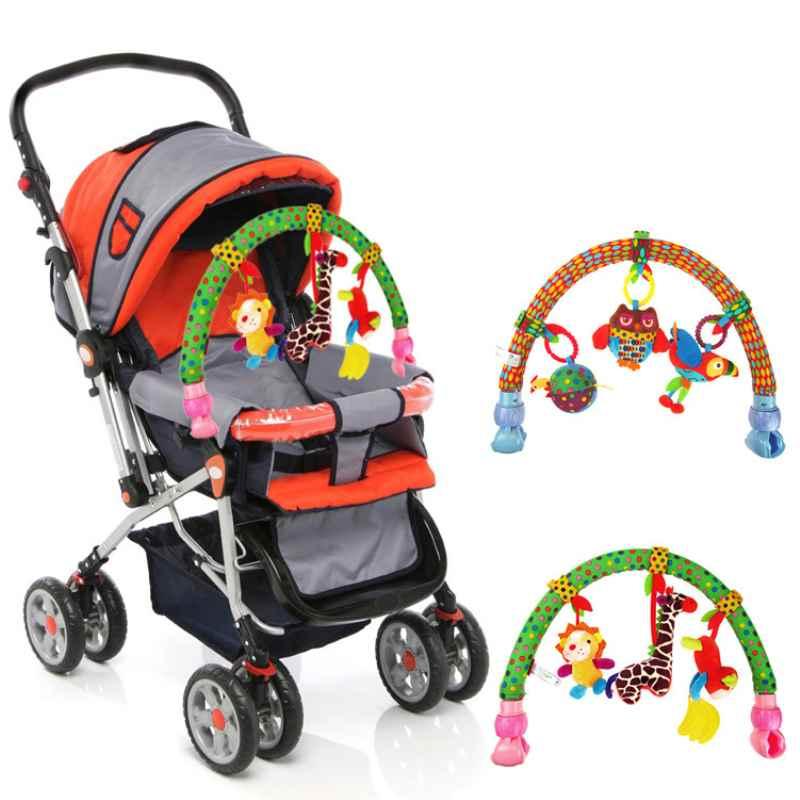 Stroller Bells folder newborn multi-function Kids Soft Animal Musical Bed Cute Multifunctional Plush Stroller Accessories