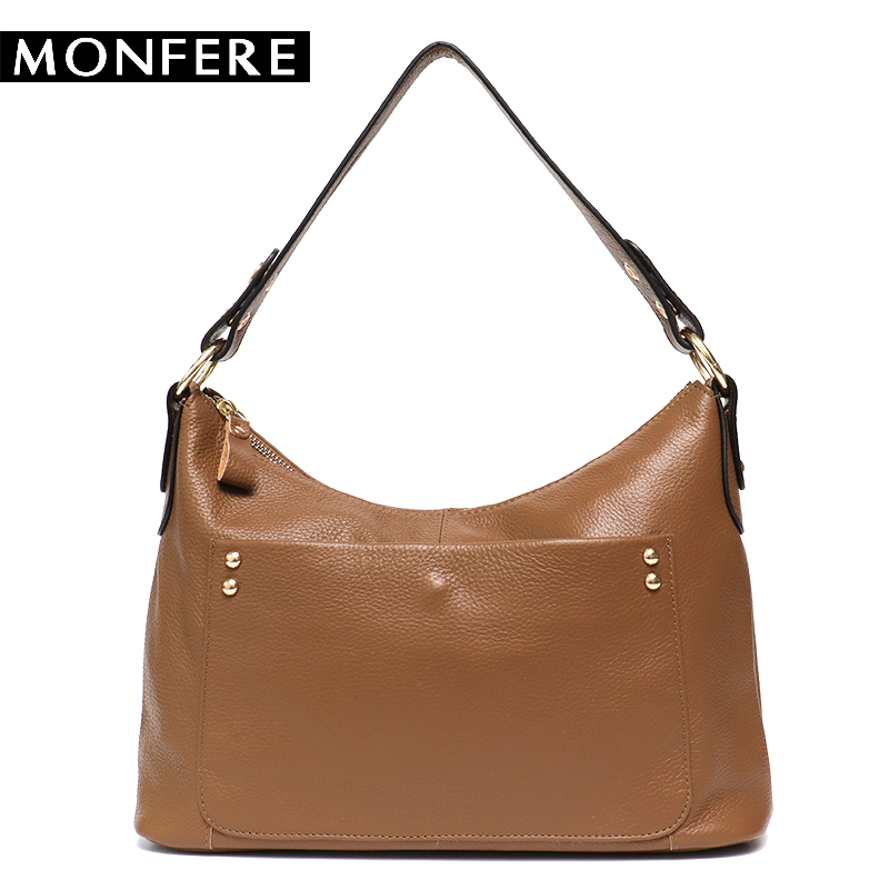 MONFERE Women Shoulder Messenger Bags Genuine Leather Handbag Female Fashion Crossbody Bag Ladies Solid Small Tote Bag Purse стоимость