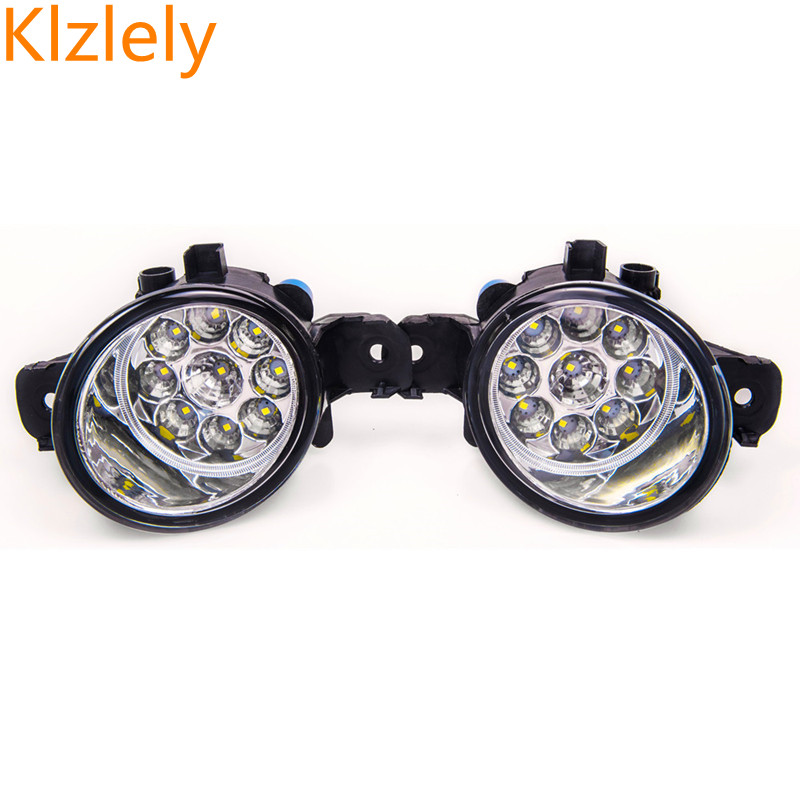 For NISSAN ALMERA 2 Urvan X-TRAIL T30 T31 Versa MARCH 3 Platina 2001-2015 Car-styling LED fog lamps high brightness lights 1set for nissan x trail t30 2001 2006 car styling led light emitting diodes drl fog lamps