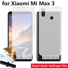 "Smart Guide Tool Soft AUTO Fixed Hydrogel Film Full Cover Screen Protector for Xiaomi Mi Max 3 6.9"" Optional Front & Back(China)"