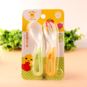The Infants Bent Fork Spoon Set / Baby Cutlery / Neonatal elbow spoon / Baby spoon Chick kaldi Food Supplement for spoon фото