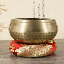 5 Sizes Yoga Tibetan Singing Bowl Mat Hand Hammered Meditation Buddhism Gift Home Decorative Crafts