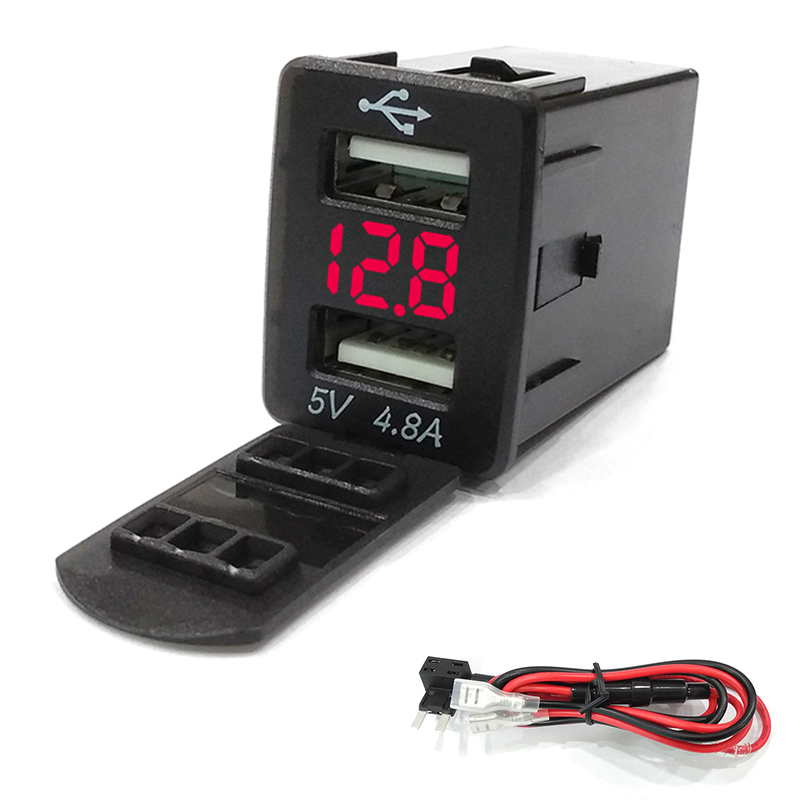 Usb-Charger Adapter Mobile-Phone 12V/24V For Honda Newest Refit 2-Port Factory Modified