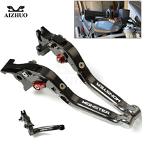 For Ducati Monster 696 695 796 400 620 797 M600 M900 M620 CNC Motorcycle Adjustable Foldable Extendable Brake Clutch Levers