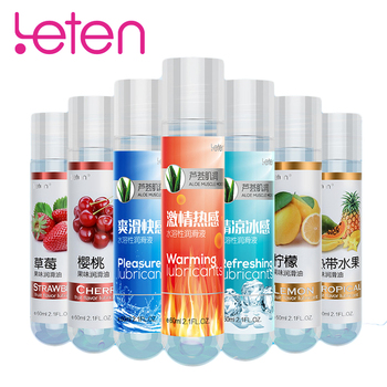 Leten 60ml Aloe Sex Lubricant Sex Toys For Couples Lubrication Vaginal Anal Lubricant Water-based Body Massage Sex Oil Lube New 1