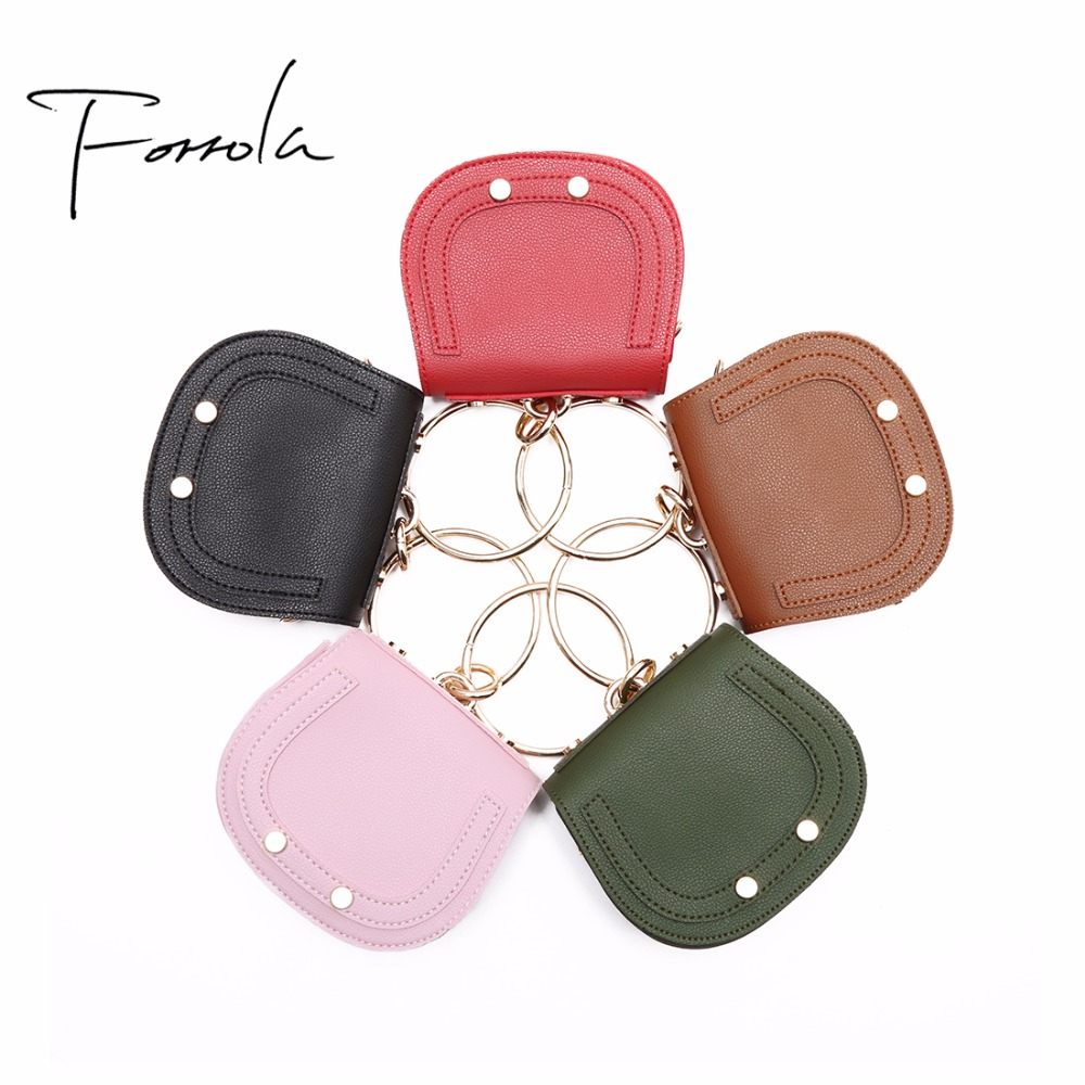 2018 Brand New Women Mini Leather Handbag Girls Lovely Ring Shoulder Bag Design Small Clutch Money Purses For Kids Children bags new fashion women message bags with small purse metal ring handle leather handbag ladies girls trendy shoulder bag balestra