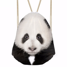 ThiKin Men's Panda Print Drawstring Bag Women Boys Male Tote String Shoulder Backpacks Small Fabric Nylon Cinch Sack Pack