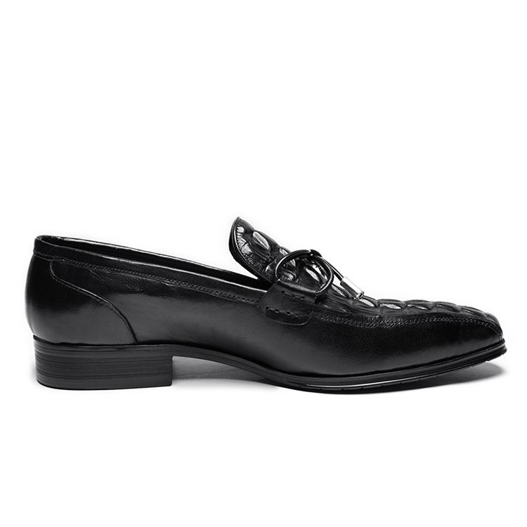 Lazer Sapatos Designer Errfc Pé Sapatas Tendências Preto Dedo Padrão vermelho Preto Vinho Homens De Escritório Dos Do Moda Quadrado Homem Barco Crocodilo Vestido qTqPdCwrE