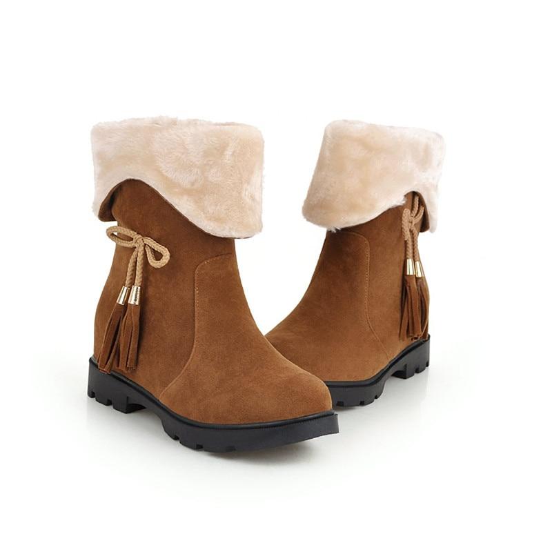 ead3d831add Nieve Mujer 44 Moda Casual Botas 2018 Redonda Memunia Zapatos Para Mujeres  Mantener amarillo Caliente De ...