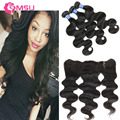 Spring Queen Hair Full Lace Frontal Closure 7A Mink Brazilian Body Wave Hair Lace Frontals Baby Hair Pre Plucked Lace Frontal