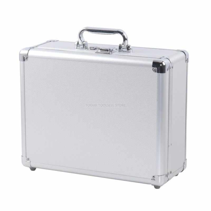 Aluminium Tool case koffer Bestand doos slagvast veiligheid case toolbox apparatuur instrument case met pre-cut foam