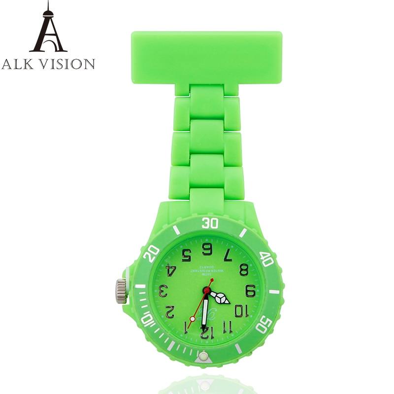 Clip-on Fob Nurse Watch Japan Brooch Hanging Watches For Nurse Men Women Pocket Watch Relogio Clock Quartz Movement