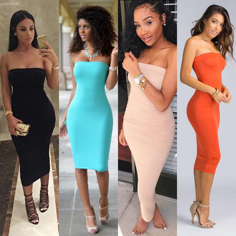 2017 top moda mujeres vestidos de verano ropa femenina sin tirantes sin mangas b