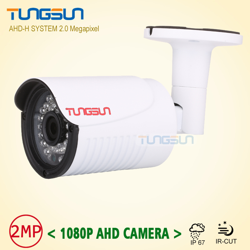 New Arrival 2MP HD 1080P Camera Security CCTV White Metal Bullet AHD Video Surveillance Outdoor Waterproof 36pcs infrared wistino cctv camera metal housing outdoor use waterproof bullet casing for ip camera hot sale white color cover case