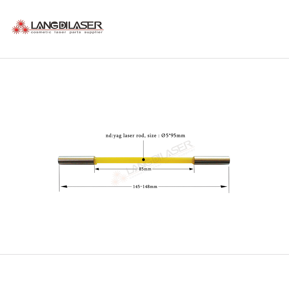 Nd:yag Laser Rod With Hoop , YAG Laser Rod For Tattoo Removal Handpiece , Q-switched Nd:YAG Laser Rod