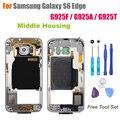 + Качество Ближний Рамка для Samsung Galaxy S6 Edge G925F/G925A/G925T Ближний Замена Корпуса Плиты Экрана Ремонт части