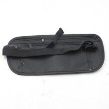 Black Outdoor Sports Waist Bag Slim Travel Secret Security Money Body Waist Pouch Wallet