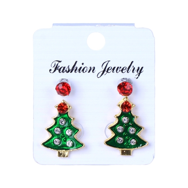 max popping tree holiday christmas sapphire blue glam earrings x