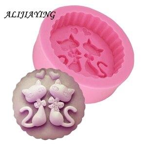 1 шт. силиконовая форма для мыла с котом форма для свечей DIY карфт формы Полимерная глина конфеты шоколадные формы D0753