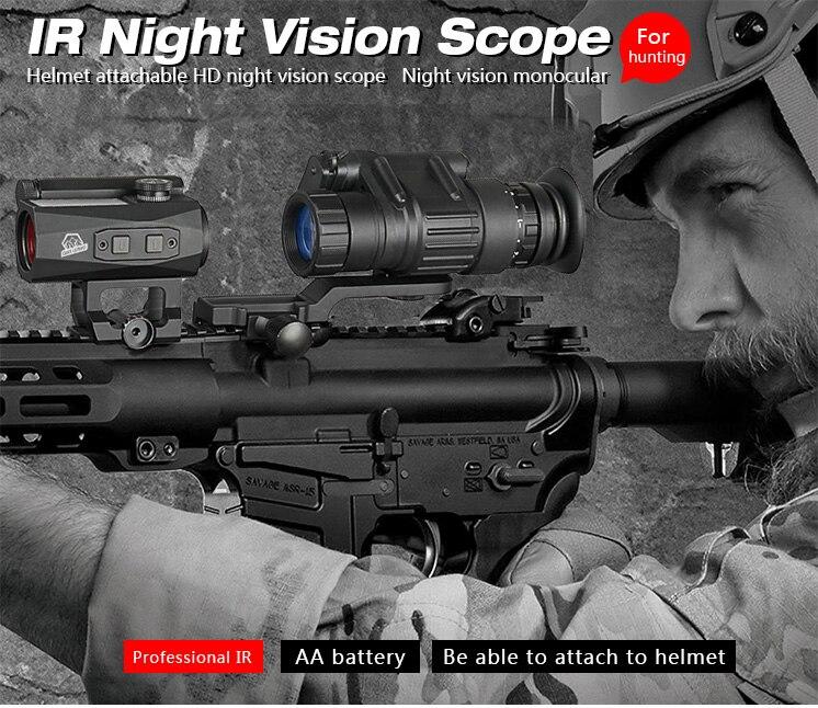 EAGLEEYE Hunting PVS 14 Night Vision Scope Monocular Device Night Vision Goggles Digital IR Illumination GZ27