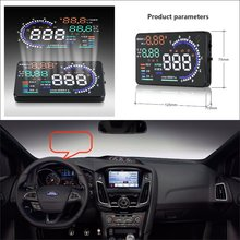 For Ford Focus RS / F150 GT 2015 2016 Car Head Up Display Saft Driving Screen Projector - Refkecting Windshield