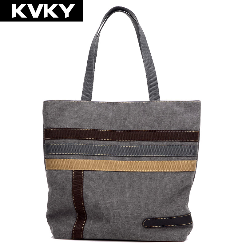 KVKY New Vintage Canvas Handbag Womens Shoulder Bag Fashion Casual bags Designer High Quality Large Capacity Shopping Bag Bolso