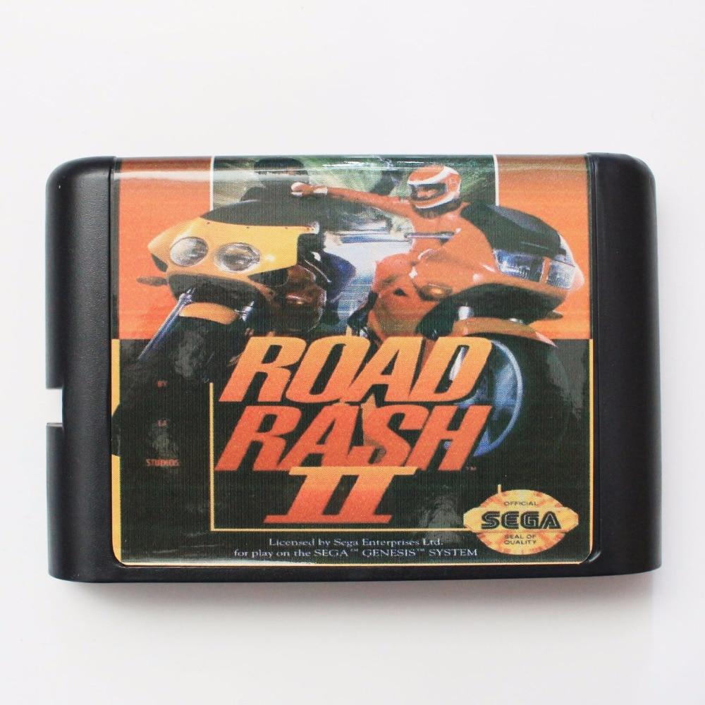 Road Rash II 16 bit SEGA MD Game Card For Sega Mega Drive For Genesis