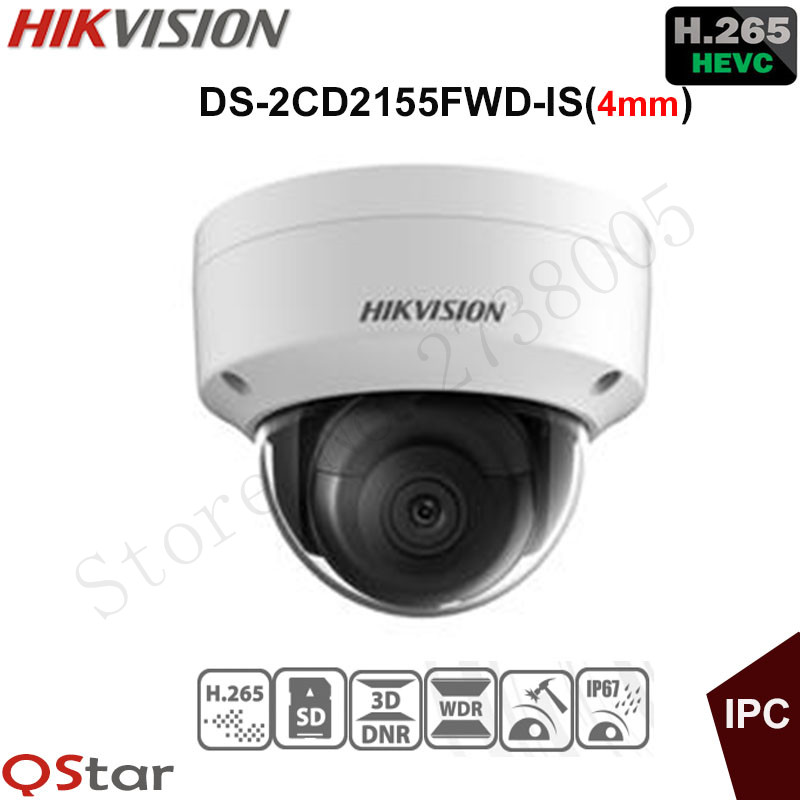 Hikvision Original English Version Surveillance Camera DS-2CD2155FWD-IS(4mm) 5MP Dome IP Camera H.265 IP67 Support Audio/Alarm touchstone teacher s edition 4 with audio cd