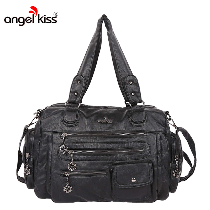 Angelkiss Brand PU Washed Handbags Women Shoulder Bags For Women Crossbody High Quality Travel Bags Bolsa FemininaAngelkiss Brand PU Washed Handbags Women Shoulder Bags For Women Crossbody High Quality Travel Bags Bolsa Feminina