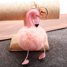 1pc Cute Pink Flamingo Keychain Pendant Women Girls Bags Charm Birthday Party Decoration Wedding Christmas Gifts