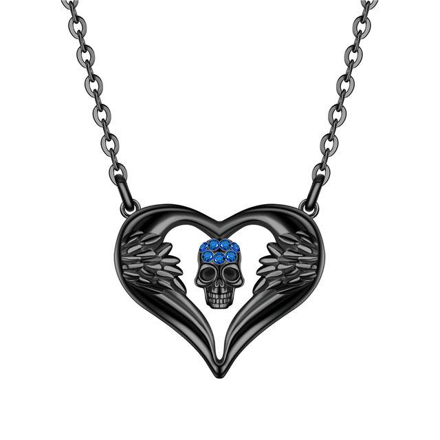ANGEL HEART SKULL NECKLACE (6 VARIAN)
