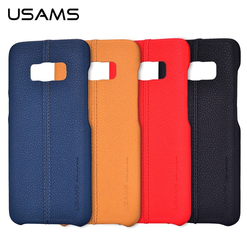 USAMS Brand JOE Series pu Leather Slim Back Case For Samsung Galaxy Note 8 / S9 Plus / S9 Phone Cover