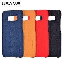 USAMS Марка Джо серии из искусственной кожи тонкий чехол для Samsung Galaxy S8 Плюс/для Galaxy S8 чехол телефона
