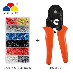 Image 3 - Einstellbare Terminal Crimpen Zangen Automatische Kabel Abisolierzange Abisolieren Crimper Werkzeug mit 1200 Terminals Kit