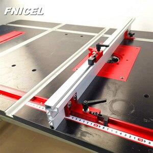 Image 2 - 600mm/800mm Aluminium Profil Zaun 75mm Höhe mit T tracks und Schiebe Klammern Gehrung Gauge zaun Stecker für Holzbearbeitung