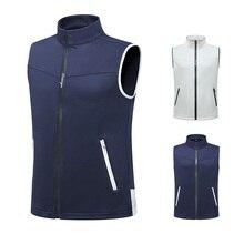 Одежда для гольфа, ветрозащитный мужской жилет, куртка без рукавов для гольфа, Осень-зима, сохраняющая тепло, жилет на молнии, одежда для гольфа, D0654