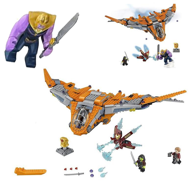 07103 Marvel Super Heroes Avengers Infinity War Thanos Ultimate Battle Building Blocks Iron Man Hulk Toys Compatible Legoe 76107