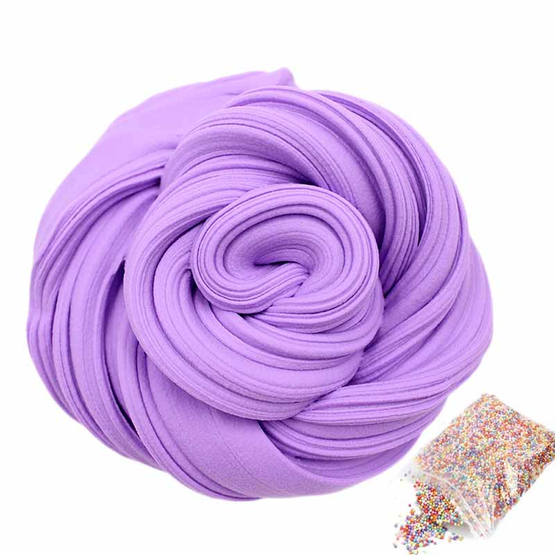Slime Fluffy Foam Colored Clay Balls Supplies DIY Light Soft Charms Slime Fruit Kit Cloud Education Craft Antistress Kids Toys