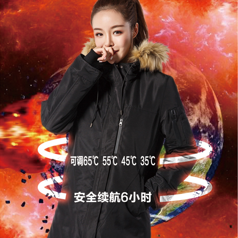 Smart heating, women's jacket carbon fiber heating, high-tech electric heating four times temperature climbing. high tech electric plastic accessory prototype