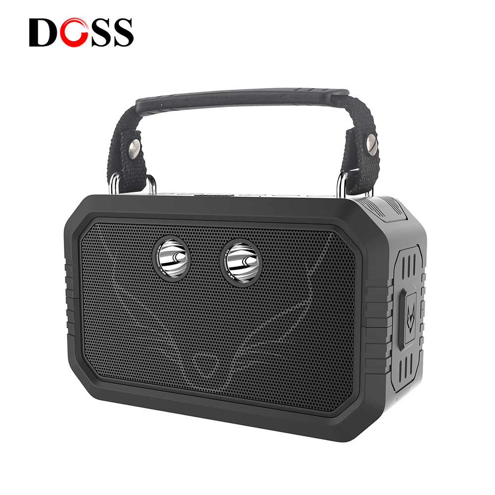 DOSS Traveller Outdoor Bluetooth V4.0 Speaker Waterproof IPX6 Portable Wireless Speakers 20W Stereo Bass shower speaker suede
