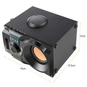 Image 4 - Toproad caixa de som bluetooth stereo, caixa de som bluetooth, subwoofer, graves, coluna, suporte para rádio fm, controle remoto aux usb
