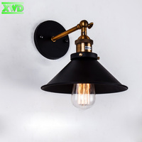 American Iron Cover Wall Lamp E27 Lamp Holder 110 240V Coffee House Dining Hall Foyer Shop