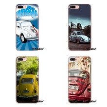Silicone Ponsel Case Penutup untuk IPod Touch Apple Iphone 4 4 S 5 5 S SE 5C 6 6 S 7 8 X XR X Plus MAX Mobil VW Klasik Volkswagen Beetle(China)